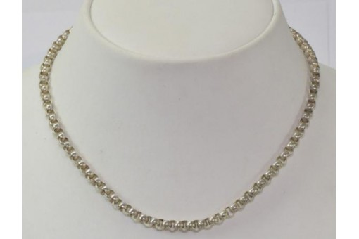 Silberkette Erbskette in Silber silver Chain Tracht antik 43 cm