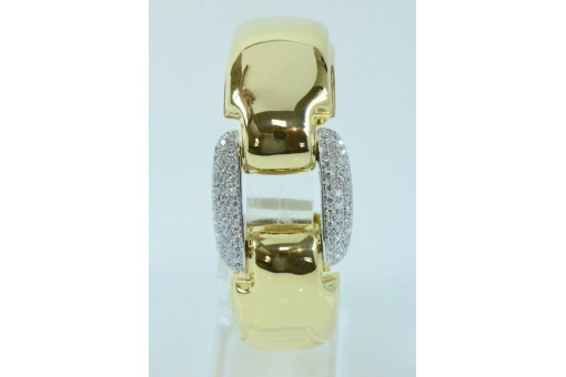 Armreif original WEMPE mit 90 Brillanten 2,7 ct. in 18 Kt 750 Gold IHK Gutachten