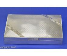 Zigarrenkiste Silberschatulle Zigarren Kiste in 800 Silber mit Holz L. 20 cm