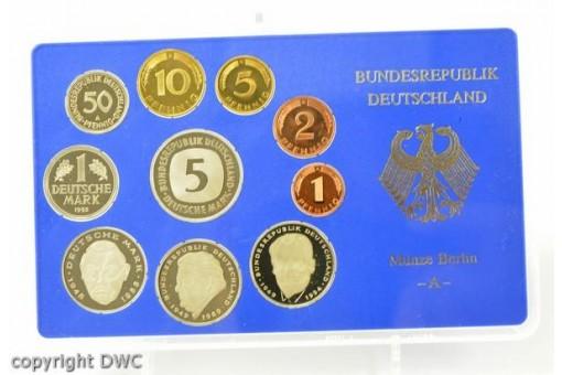 Kursmünzensatz BRD 1995 A polierte Platte 1 Pfennig bis 5 DM Sammlermünzen