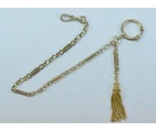 Uhrkette Taschenuhrkette vergoldet 25 cm Steg Kette pocket watch chain antik