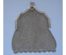 Abendtasche Kettentasche Geldbeutel 800 Silber silver bag antik