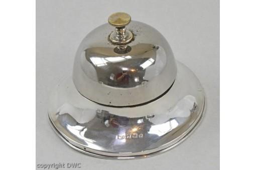 Tischglocke Silberglocke Glocke in 925er Silber Sterling England 1907 Antik