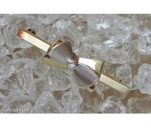 Ansteck Nadel Brosche mit Brillant Diamant in 14 Kt 585 er Weiss Gold Schleife