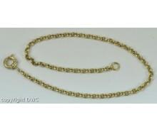 Silberkette Ankerkette in aus 925 er Sterling silber vergoldet silver Chain