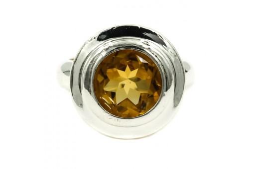 Ring mit Citrin Zitrin in aus 925 Silber Sterling Damen Finger Ringe Gr. 53