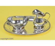 Moccaservice Silberservice Service aus 835 Silber mit Tablett Milch / Zucker