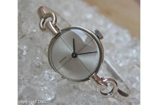 Damenarmbanduhr Damenuhr Marke Owesa Uhr Uhren in aus 800 Silber Reif um 1980