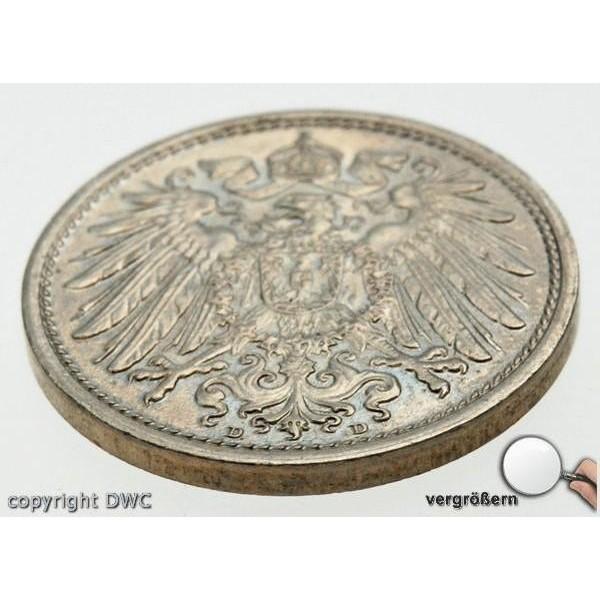 Coin Münze 10 Pfennig Kaiserreich 1916 D Wappen Diamond Watch Company